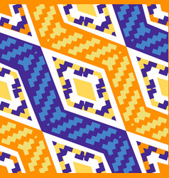 Yellow and blue diagonal african geometric pattern vector