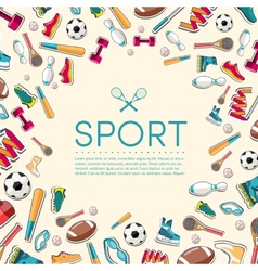 Circular concept of sports equipment sticker vector image