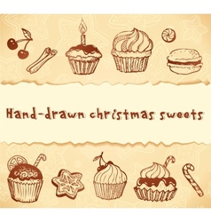 Isolated bakery hand-drawn set vector image vector image