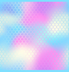 mermaid tail with fish scale seamless pattern for vector image