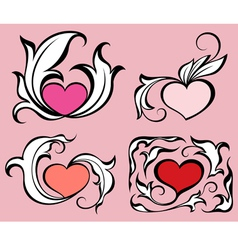 Abstract hearts vector