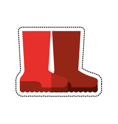 cartoon boots rubber gardening image vector image