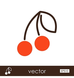 Cherry outline icon Fruit vector image