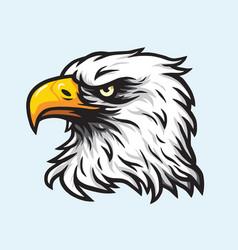 Eagle head mascot logo vector
