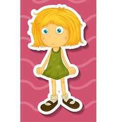 Girl wearing dirty clothes vector