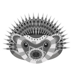 hedgehog head logo decorative emblem vector image vector image