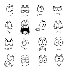 Human cartoon eyes emoticons symbols vector image vector image