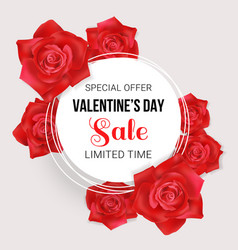 valentines day sale card vector image vector image