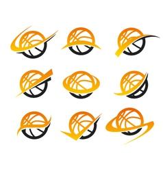 Basketball Logo Icons vector image vector image