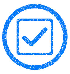 checkbox rounded grainy icon vector image