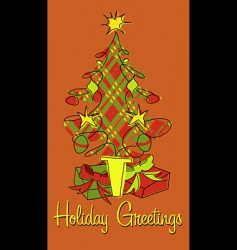 holiday plaid vector image vector image