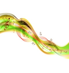 music abstract green vector image vector image