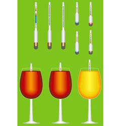 Glass hydrometers vector image vector image