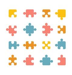 jigsaw icon vector image vector image