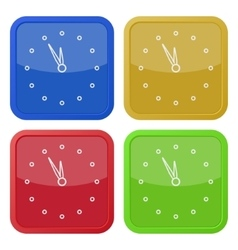 set of four square icons with last minute clock vector image vector image
