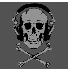 Skull and Headphones vector image