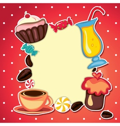sweets card vector image vector image