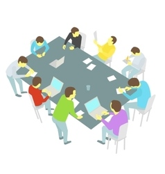 Table talks nine persons set Group of business vector image vector image