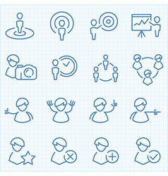 Universal GUI people theme icons set vector image vector image