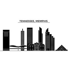 usa tennessee memphis architecture city vector image