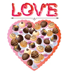 Valentines sweets vector image