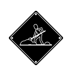warning under construction repair sign pictogram vector image