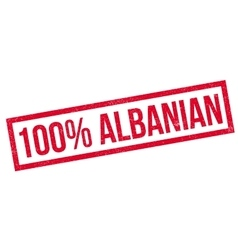 100 percent Albanian rubber stamp vector image