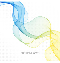 Abstract background color flow waved lines vector