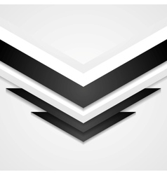 Abstract corporate background with arrows elements vector image