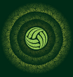 Abstract green persian volleyball vector