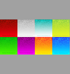 abstract halftone gradient color backgrounds set vector image