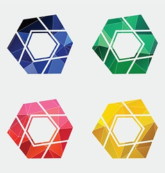 Abstract pentagon icon Abstract Triangle vector