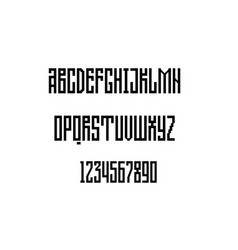 alphabet geometric grotesque unique vector image