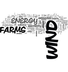 an overview of wind as an energy source text word vector image