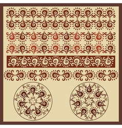 antique border design version vector image