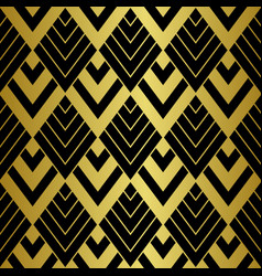 art deco golden seamless pattern gatsby luxury vector image