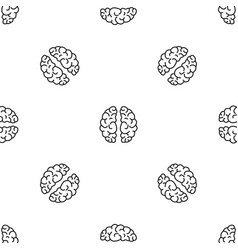 artificial brain pattern seamless vector image