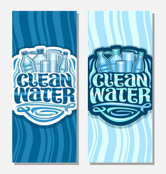 Banners for clean water vector