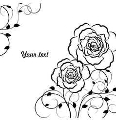 Beautiful floral pattern in black vector