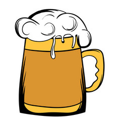 beer mug icon cartoon vector image