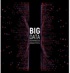big data abstract visualization lines vector image