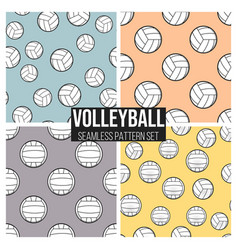 black volleyball ball pattern repeat seamless vector image