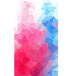 blue and red color triangle background vector image