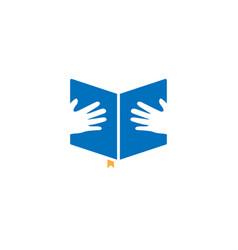 book graphic design template vector image