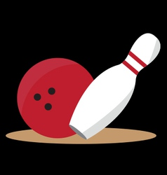 Bowling ball and pin vector