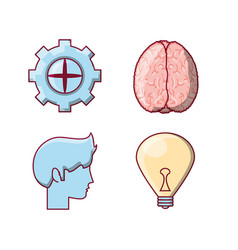 brain concept design vector image