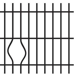 broken prison bars design vector image