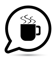 bubble with cup icon vector image