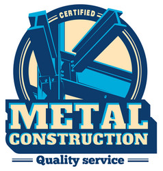 Building construction metal frame logo vector