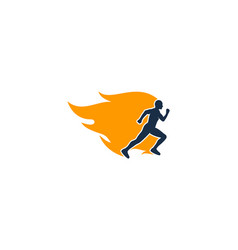 burn run logo icon design vector image